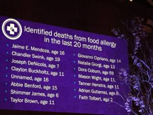 This is FARE's list of reported (and confirmed) food allergy deaths within the last 20 months.